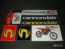 1 AUTHENTIC CANNONDALE MX400 BIKE STICKER SHEET / DECAL / AUFKLEBER ****