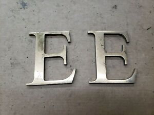 """Solid Brass Letter """" E """" 5 3/4"""" inches tall, Industrial Decor"""