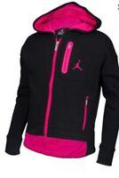 Air Jordan Girls Cropped Jacket ~ Hoodie ~ Black & Pink ~ Jumpman