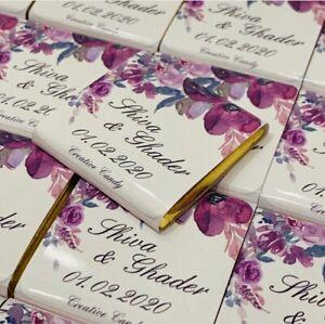 Gastgeschenk Schokotafel Quadratisch Personalisierte Schokolade Foto Etiketten