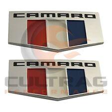 2016 2017 Chevrolet Camaro Genuine GM Front Fender Emblem Badge Set 23184152