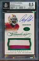 2014 Panini Flawless Anquan Boldin Emerald Patch Auto 49ers BGS 8.5 #d 5/5