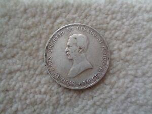 1917 Uruguay 50 centavos silver coin