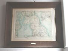 More details for 1895 genuine victorian northern railway map lnwr nb clc gnr in victorian frame