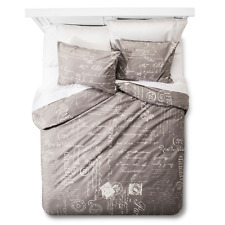 homthreads Paris Duvet Cover and Pillow Sham Set - Grey TWIN Size Bedding NEW