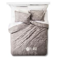 homthreads Paris Duvet Cover and Pillow Sham Set - Grey Queen Size Bedding NEW
