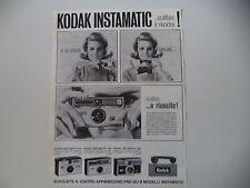 advertising Pubblicità 1965 KODAK INSTAMATIC 50/100/300