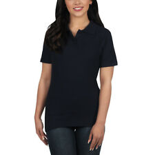 Ladies Polo Shirt Short Sleeve Womens Plain Pique Classic Top T Shirt Lot 6 - 8 Navy Blue 1 Shirt