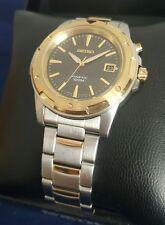 Seiko SKA 378 Kinetic Power Men's 40mm Black Dial S/Steel watch *SHIPS FREE*