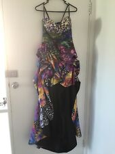 Jovani size 2 straplessed jewelled bodiced evening gown (lc2)