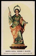 """santino-holy card""""S.LUCIA V.M.-VALENCIA"""