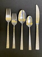 Vintage Atkins Stainless Flatware Weave/Lattice Pattern set of 35 pc