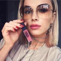 Luxury Sunglasses Women Transparent Gradient Elegant Rimless Ladies Sunglasses