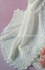 VINTAGE KNITTING PATTERN FOR BABY / BABY'S PRETTY SHAWL / BLANKET IN 4 PLY