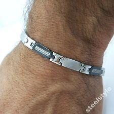 Pulsera De Acero Inoxidable Para Hombres Estilo Romano Joyería Bracelet RS12