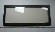"Fireplace Replacement Parts Glass Insert Black Frame 39-3/8"" x 18"" Overall CS"
