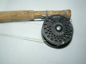 ORVIS GRAPHITE FLY ROD 7 1/2 FT. WITH ORVIS CFO FLY REEL  EX