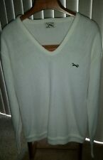 J.C Penny the Fox sweater pullover v neck large vtg white