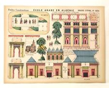 Pellerin Imagerie D'Epinal- 1254 Petites Construction Ecole Arabe En Algerie