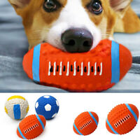 Hund Katzen Ball Hundespielzeug Latex Bälle Hunde Kauen Spielzeug Haustier Rugby