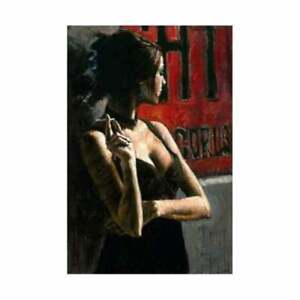 """Fabian Perez, """"Noches Buenos Aires III"""" Hand Textured"""