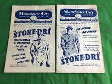 Manchester Football Club February 16th 1952/January 30th 1954 Programmes RDL594