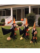 Group of Spooky Witch Halloween Lawn Props Outdoor Yard Decoration Scary NEW