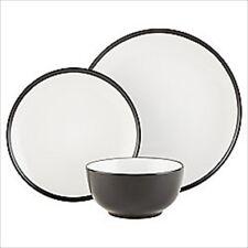ECLIPSE 12 PIECE STONEWARE DINNER SET TABLEWARE PLATES BOWLS BLACK TABLEWARE