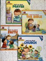 Teach Me About CHURCH, FAITH, PRAYER, & BIBLE Early Learning, 4 CD's, Set/4-NEW