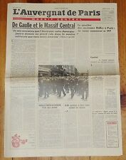 JOURNAL AUVERGNAT DE PARIS 14 NOVEMBRE 1970 MORT GENERAL DE GAULLE