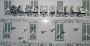 """1955 """"OLDSMOBILE"""" 88 98 Grill Letters w/ Hardware. Die Cast & Chrome Plated"""