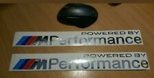 2 Adesivi sticker BMW M Performance parts 45cm lettere cromate