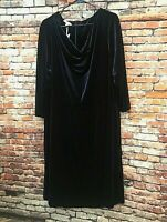 NWT RSVP by Talbots Blue Luxe Velvet Fit & Flare Dress, 3/4 Sleeve, Sz 3X, $159