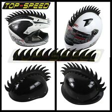 Motorcycle Dirtbike Ski Helmet Mohawk - Racing Helmet Spikes Strip Rubber