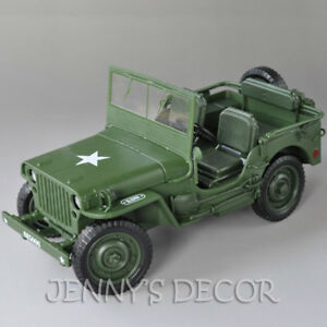 1:18 Diecast Car Model Toys Tactical Jeep Military Vehicle Willys Replica Hot