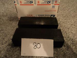 Black Plastic Delrin/ Acetal sheet/block lot, 2 pieces CNC Mill (#80)