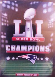 New England Patriots LI Super Bowl Champions Decorative Team Flag NEW