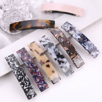 Women Vintage Resin Hair Clip Hairband Snap Slide Barrette Hairpin Hair Acces