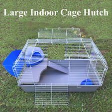 Large Metal Indoor Rabbit Guinea Pig Cage Hutch With Bedroom 98x56x54cm