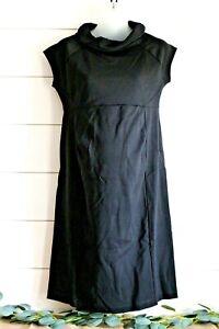 Medium GAP MATERNITY NWT Black Short Cap-Sleeve Sweater Dress Smock Top