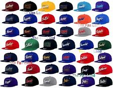 New NBA Mens Mitchell and Ness Cursive Retro Classic Vintage Snapback Cap Hat