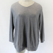 NEW J.Jill Plus Size Cotton Cozy Gray V-Neck Sweater Tunic Top w/pockets 4X
