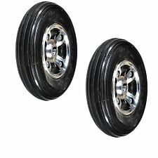 """Two  8""""x2"""" (200x50) Solid Rear Wheels for the Drive Hawk Mobility Scooter (NEW)"""