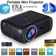 5000 Lumens Full HD 1080P LED LCD 3D VGA AV Theater Projector HDMI TV SD Home GO