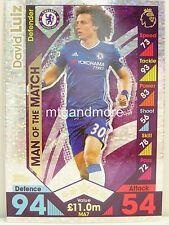Match Attax 2016/17 Premier League -  MA7 David Luiz - Man of the Match