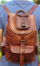 Indian Jhola handmade genuine men's leather backpack Fantastic Looking Most Uses