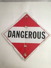 TRUCK Placard HAZARDOUS MATERIAL Signage Steampunk Wall Decor Dangerous Corrosiv