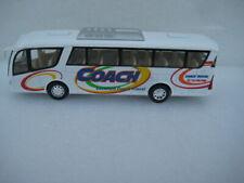 Coach Bus White Diecast Model Toy Car