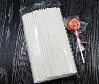 100 x Cake Pop Stick Long 15cm White Paper Sticks Lolly Lollipop Candy OVENPROOF