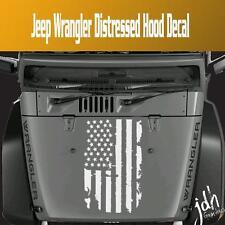 American Flag Hood Blackout Vinyl Decal Sticker Fits Jeep Wrangler JK TJ YJ Star
